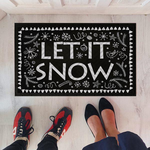Коврик придверный с принтом «Let it snow»