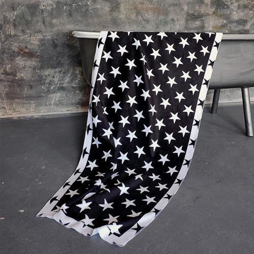 Полотенце большое с принтом «Звезды»