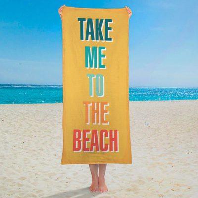 Полотенце большое с принтом «Take me to the beach»