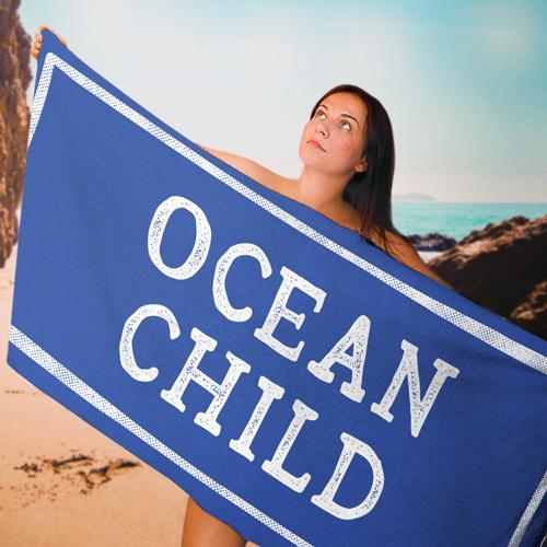 Полотенце большое с принтом «Ocean child»