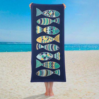 Полотенце большое с принтом «Рыбки»
