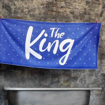 Полотенце большое с принтом «The King»