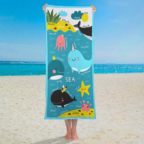 Полотенце большое с принтом «Sea»
