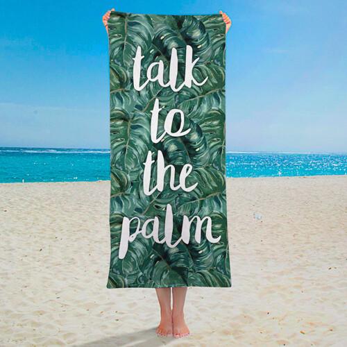 Полотенце большое с принтом «Talk to the palm»