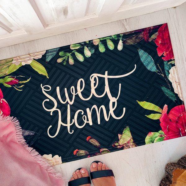 Коврик придверный с принтом «Sweet home»