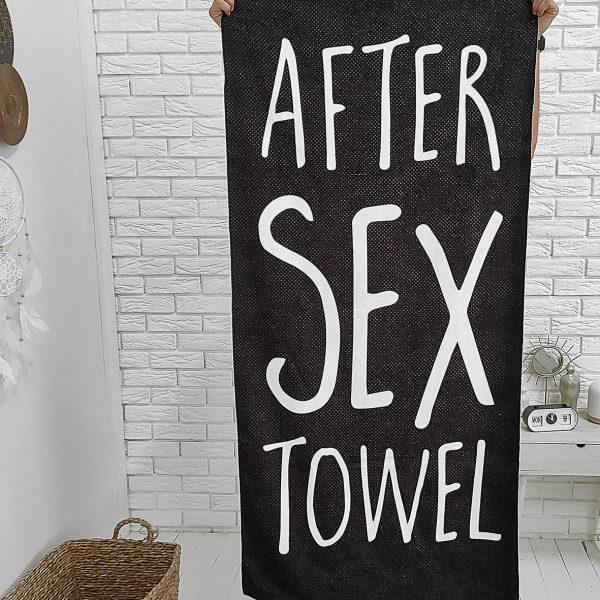 Полотенце большое с принтом «After sex towel»