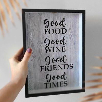 Копилка для винных пробок Good food Good wine