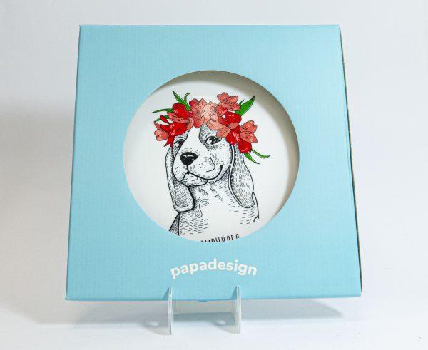Тарелка PAPAdesign «Бигль»