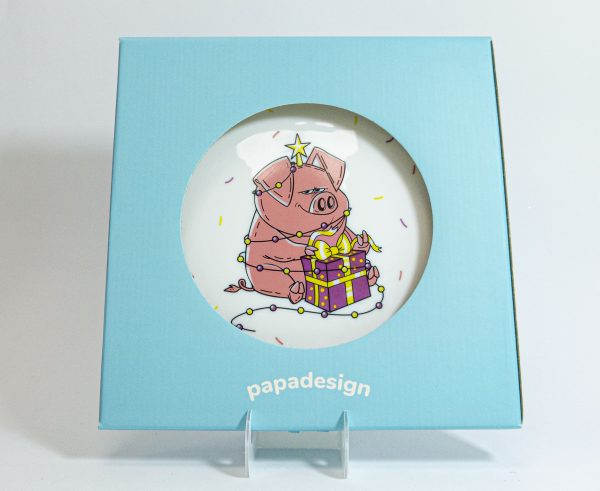 Тарелка PAPAdesign «Новогодняя хрюша»