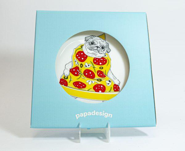 Тарелка PAPAdesign «Пицца-мопс»