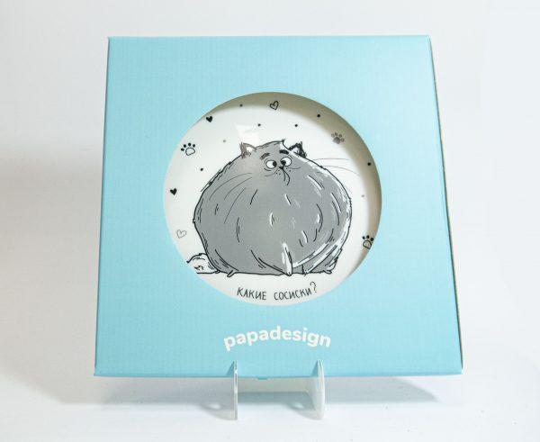 Тарелка PAPAdesign «Какие сосиски»