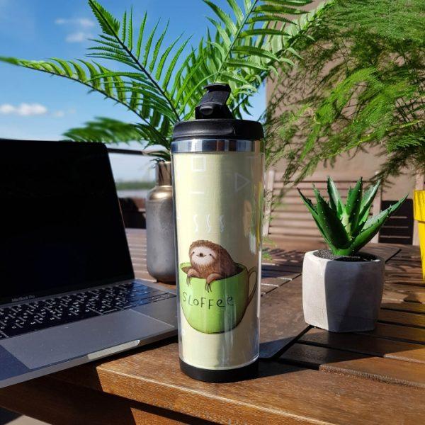 Термокружка ZIZ «Ленивый кофе»