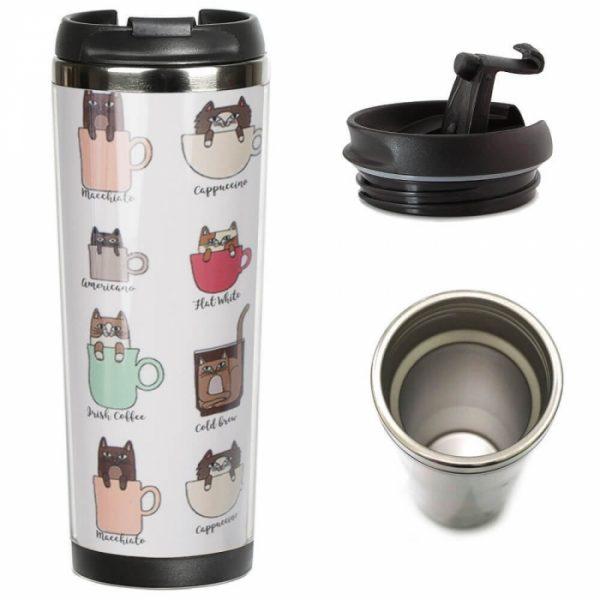 Термокружка ZIZ «Кошачий кофе»
