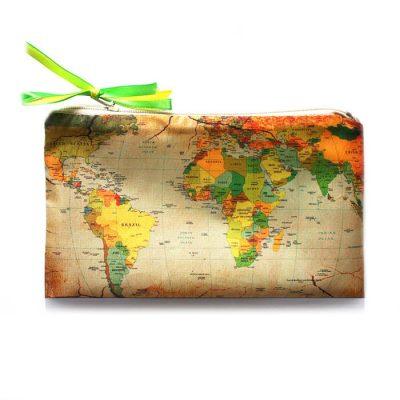 Косметичка  Ziz «Карта коричневая»