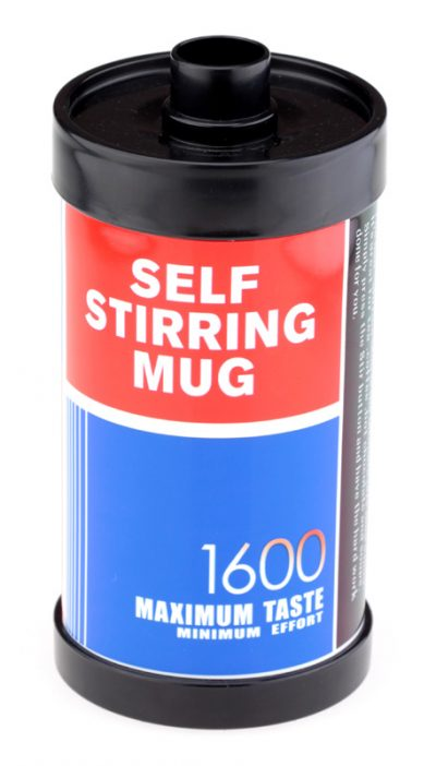 Термокружка «Фотопленка 1600» HONO с автоматическим миксером (синяя)