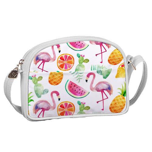 Сумка для подростков Junior girl «Фламинго и фрукты»