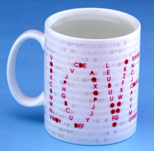 Чашка с терморисунком «Шифр Любви LOVE»