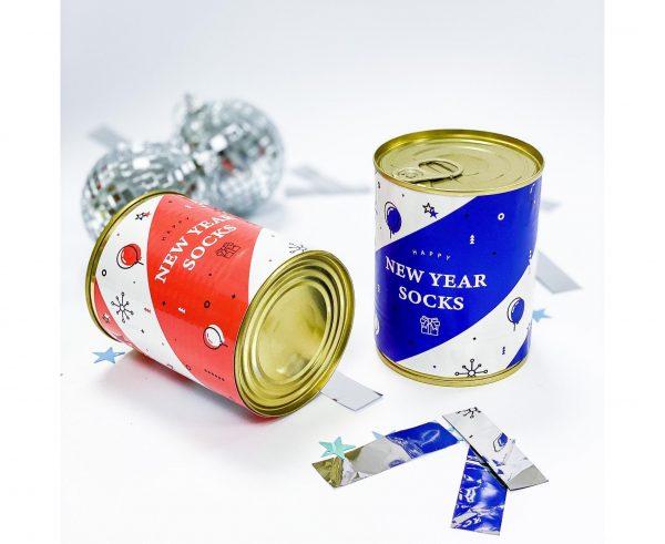 Банка носков «New Year socks» синие