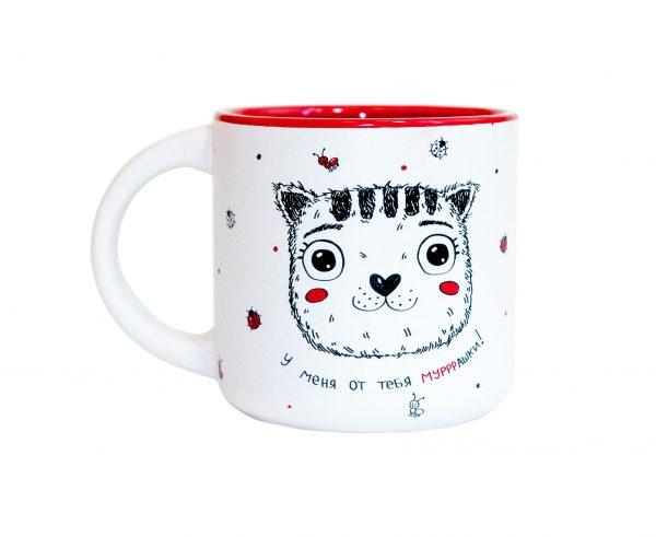 Чашка «Котик у меня от тебя муррашки» 350 мл