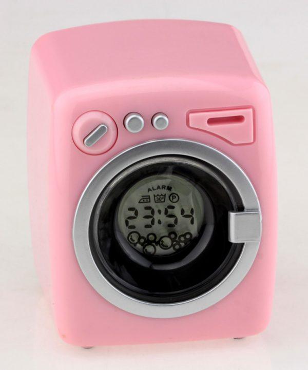 Будильник «Стиральная машина» (розовые)