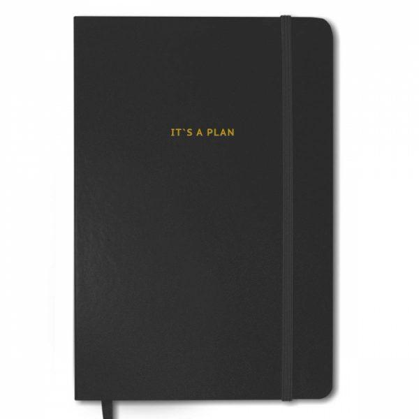 Блокнот для планирования Gifty «It's a plan» (черный)