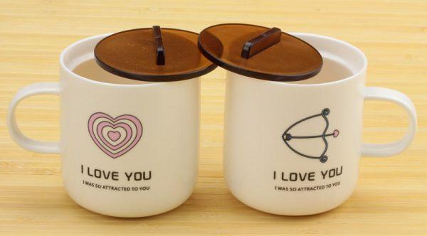 Набор чашек «Сердечко и Стрела. Love you» Cinaya