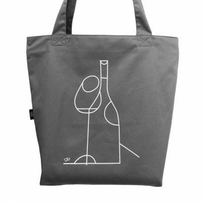 Экосумка «Вино» L Gifty (серая)