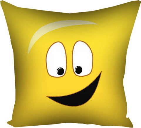 Подушка с принтом 40х40 см «Смайл»