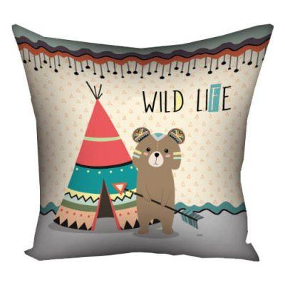 Подушка с принтом 40х40 см «Wild life»