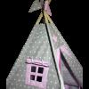 Вигвам Хатка комплект бонбон «Принцесса» розовый с серым