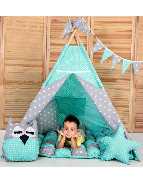 Вигвам Хатка комплект бонбон «Звезды»  с подушками