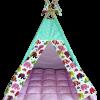 Вигвам Хатка комплект «Индия» розовый с мятным