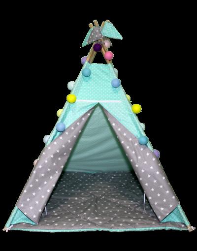 Вигвам Хатка комплект  «Звезды» со стеганным ковриком