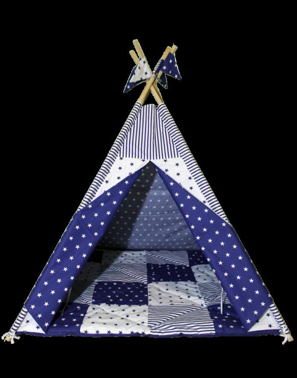 Вигвам Хатка комплект  «Звездопад» со стеганным ковриком