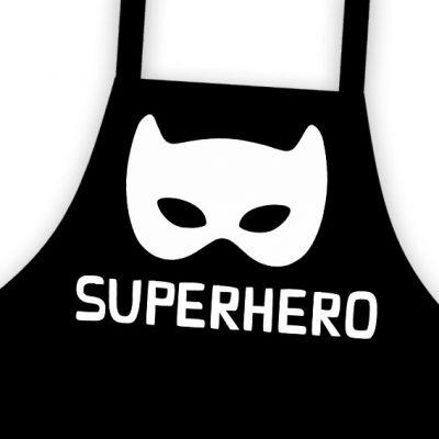 Фартук подростковый с надписью «Superhero» Супергерой