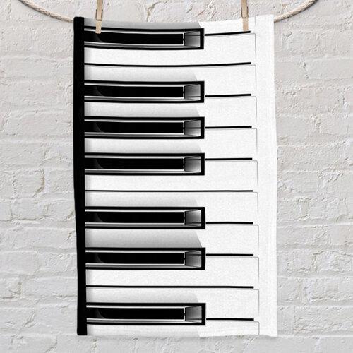 Полотенце маленькое с принтом «Piano»