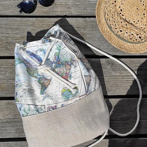 Рюкзак тканевый Summer «Карта»