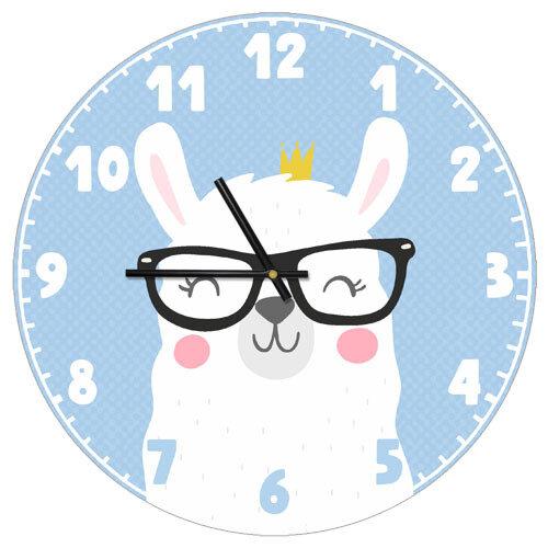 Часы настенные Лама в очках