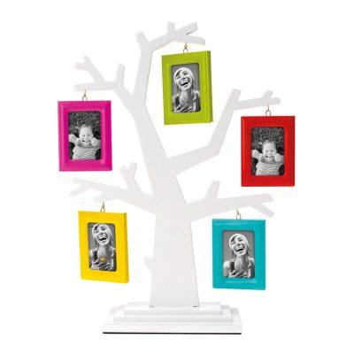 Фоторамка Родовое дерево с разноцветными рамками