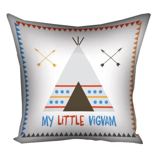 Подушка с принтом 40х40 см «My little vigvam»