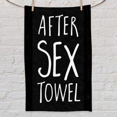 Полотенце маленькое с принтом «After sex towel»