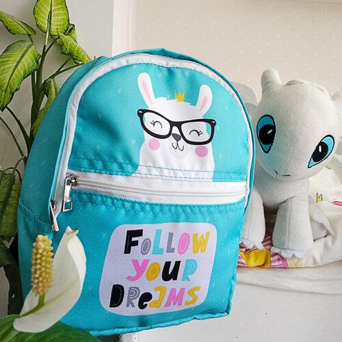 Рюкзак детский light «Follow your dreams» Лама