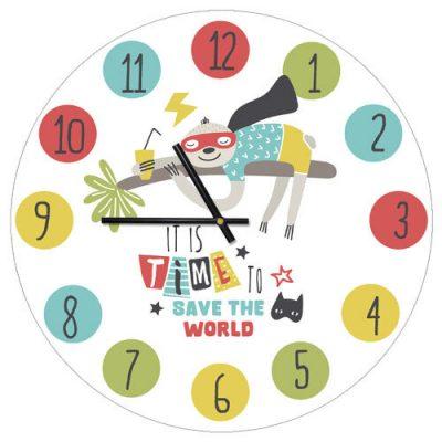 Часы настенные «It is time to save the world»