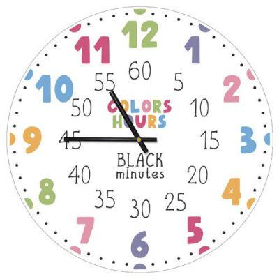 Часы настенные «Colors hours Black minutes»