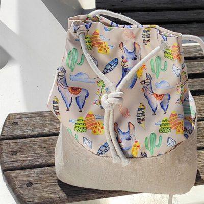 Рюкзак тканевый Summer «Ламы»