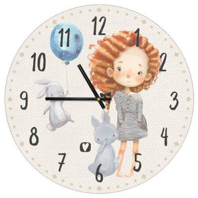 Часы настенные Рыжая девочка