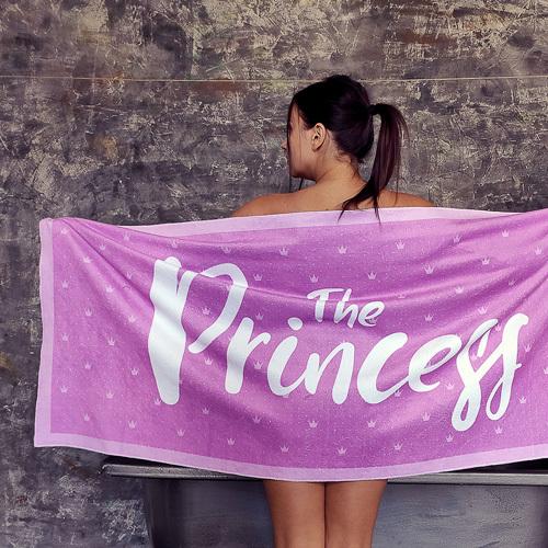 Полотенце большое с принтом «The princess»