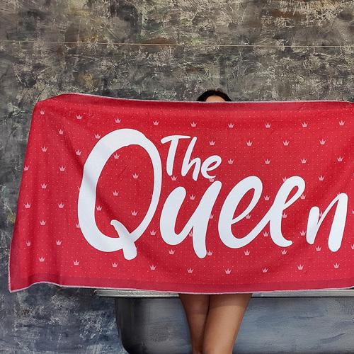 Полотенце большое с принтом «The Queen»