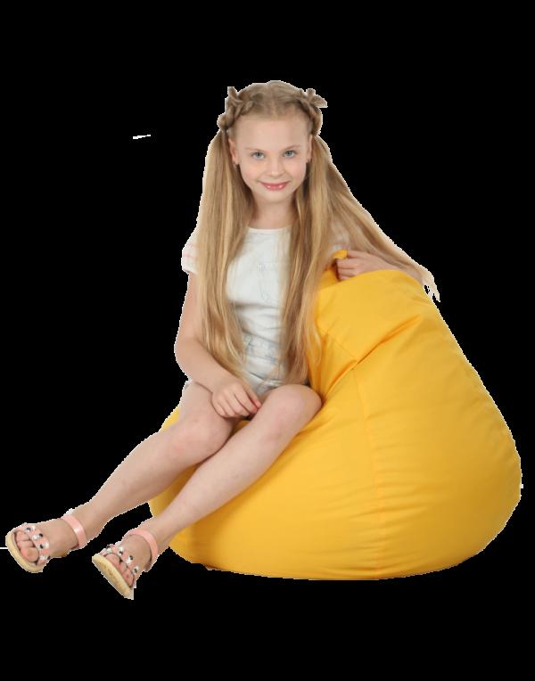 Кресло-груша детская, желтая