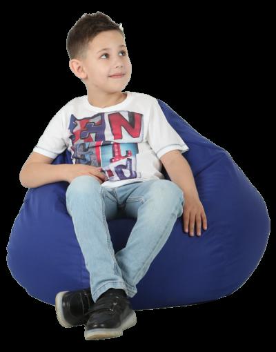 Кресло-груша средняя, синяя
